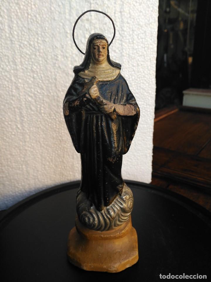 IMAGEN EN TERRACOTA (Antigüedades - Religiosas - Varios)