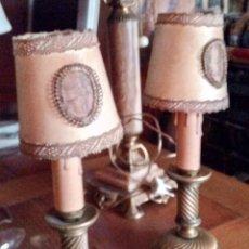 Antigüedades: PAREJA. LAMPARITAS. Lote 112152308