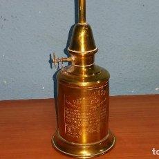 Antigüedades: ANTIGUA LAMPARA QUINQUE EN LATÓN REALIZADO EN FRANCIA. Lote 112154319