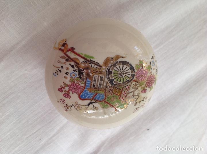Antigüedades: Cajita japonesa de loza - Foto 2 - 112168023