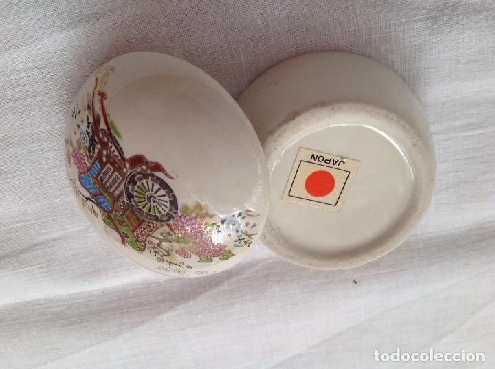 Antigüedades: Cajita japonesa de loza - Foto 4 - 112168023
