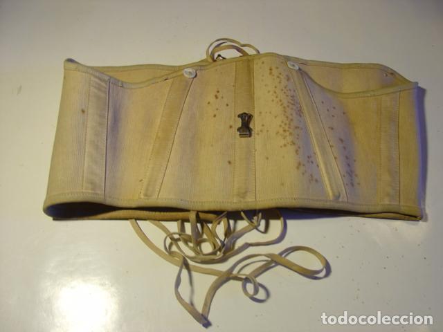 Antigüedades: Antiguo Corsé Señora Finales s.XIX. Manchas de Óxido en el Anverso. - Foto 2 - 112222895