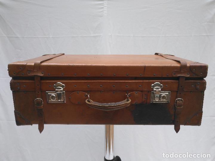 Antigüedades: MALETA DE CUERO ANTIGÜA - Foto 3 - 112234547