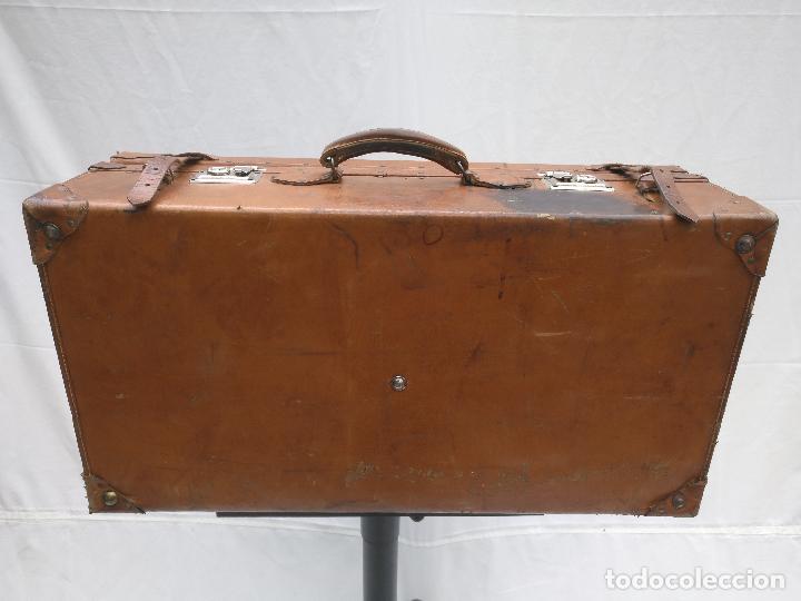 Antigüedades: MALETA DE CUERO ANTIGÜA - Foto 4 - 112234547