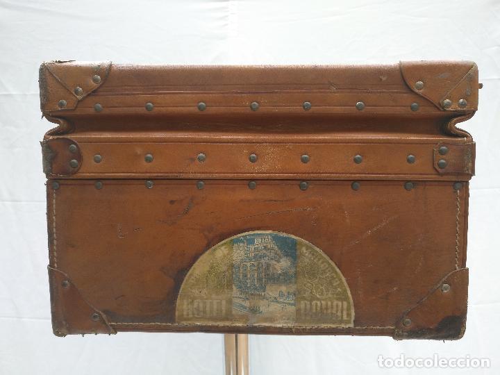 Antigüedades: MALETA DE CUERO ANTIGÜA - Foto 7 - 112234547