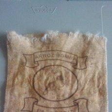 Antigüedades: SACO DE ARPILLERA - ARROZ BOMBA LA PEDIR (OLIVA - VALENCIA). Lote 155912974