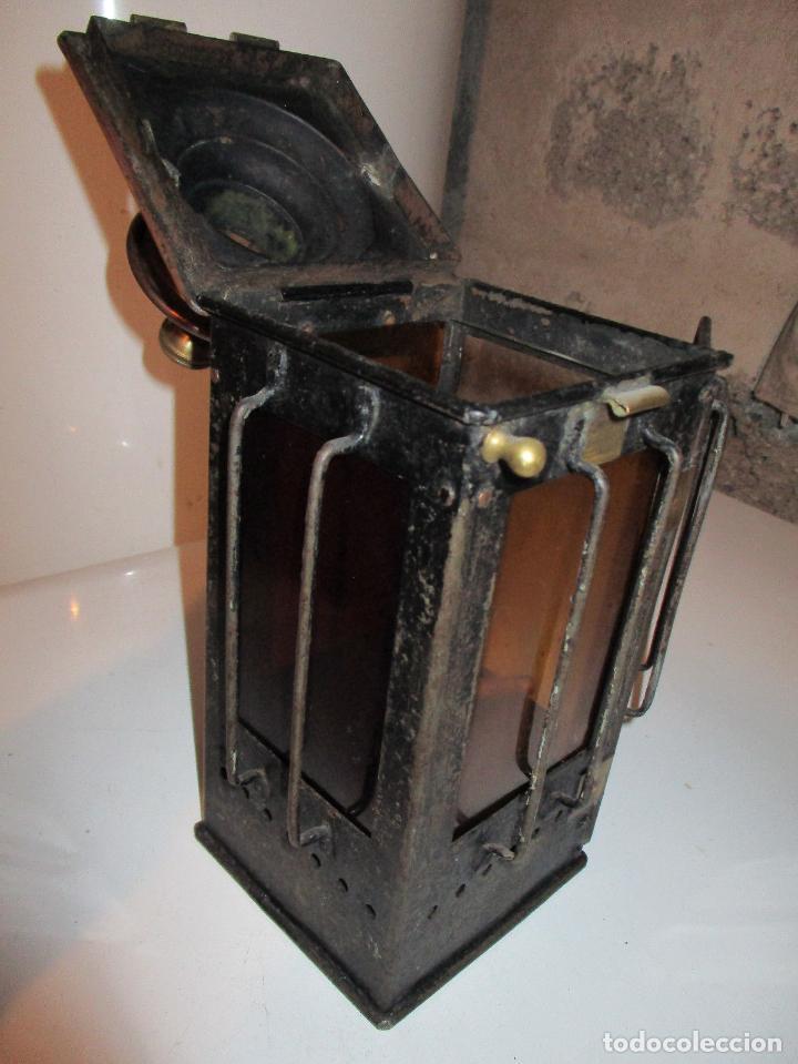 Antigüedades: IMPRESIONANTE Y RARO FAROL FERROCARRIL O LOCOMOCCIÓN ,HIERRO BRONCE COBRE PIEZA DE MUSEO 350,00 € - Foto 7 - 112245195