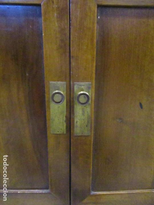 Antigüedades: Antiguo Tocador Modernista - Madera Nogal - Espejo Plateado - Mármol - Principios S. XX - Foto 7 - 112253747