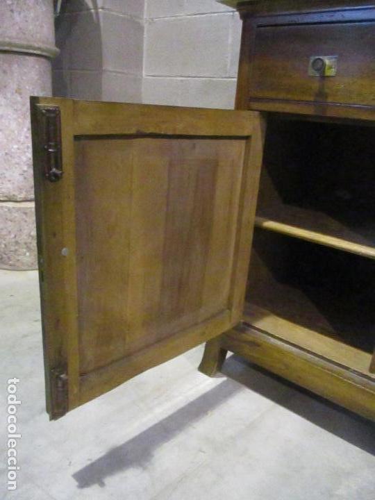 Antigüedades: Antiguo Tocador Modernista - Madera Nogal - Espejo Plateado - Mármol - Principios S. XX - Foto 9 - 112253747