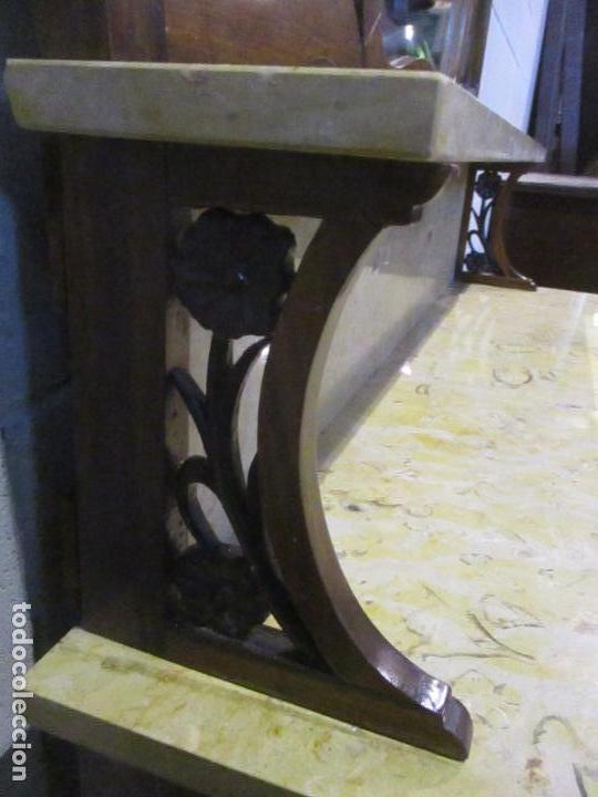 Antigüedades: Antiguo Tocador Modernista - Madera Nogal - Espejo Plateado - Mármol - Principios S. XX - Foto 18 - 112253747