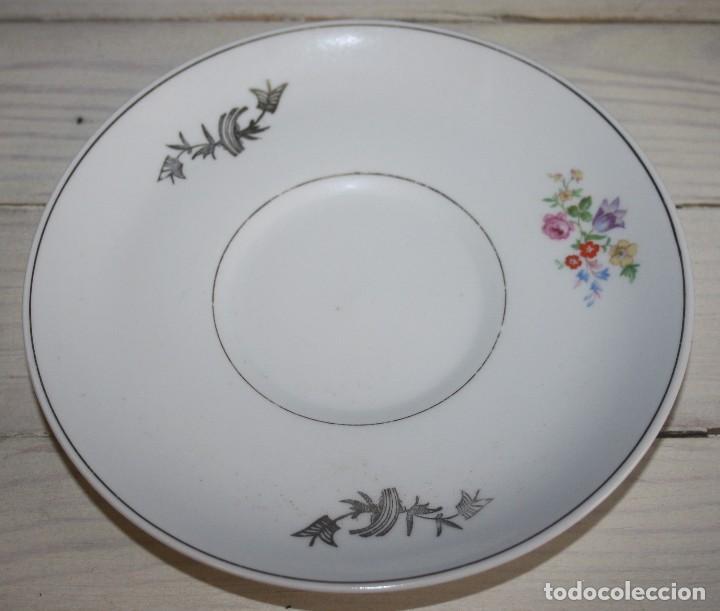 PLATO DE CAFÉ ROYAL POLA - CON BORDE DORADO - GIJÓIN (Antigüedades - Porcelanas y Cerámicas - San Claudio)