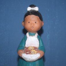 Antigüedades: BONITA FIGURA DE BARRO VIDRIADO - I. Lote 112273055