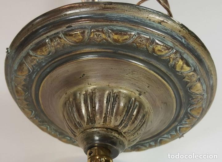 Antigüedades: LÁMPARA DE TECHO DE CRISTAL. LÁGRIMAS DE CRISTAL FACETADO. SIGLO XX. - Foto 3 - 112292755