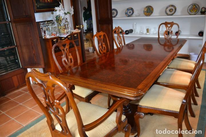 mesa comedor con sillas de maderas nobles y aca - Comprar Mesas ...
