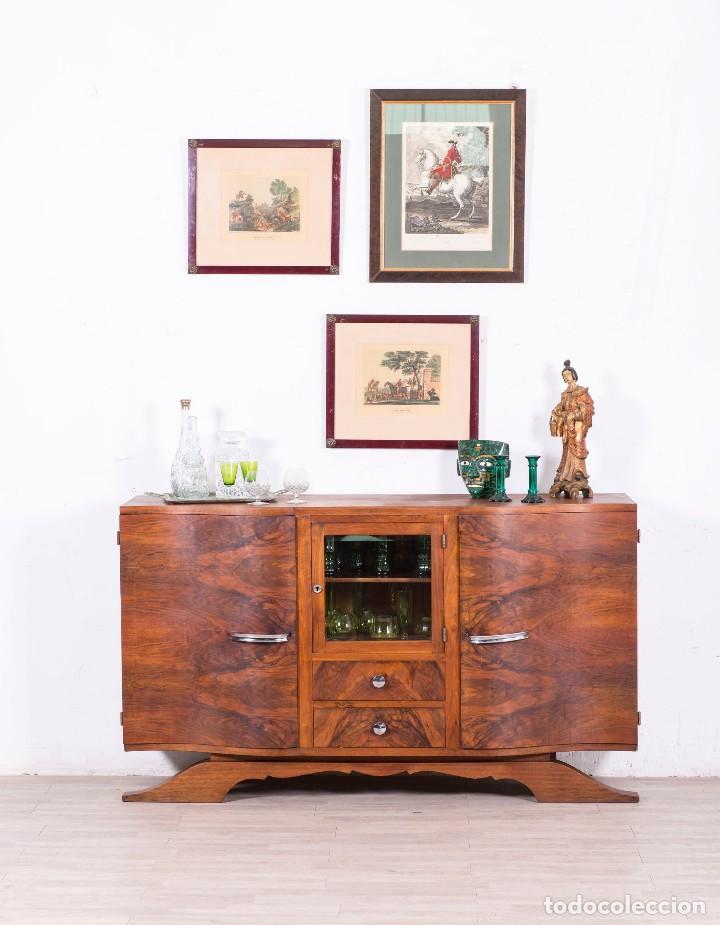 APARADOR ANTIGUO DE DISEÑO 1940 (Antigüedades - Muebles Antiguos - Aparadores Antiguos)