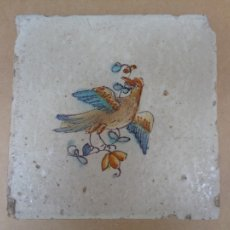 Antigüedades: AZULEJO CON PAJARO.VALENCIA. Lote 35525814