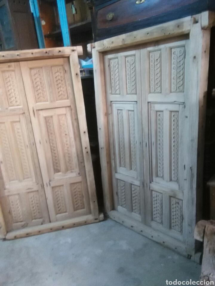 Antigüedades: 2 Parejas Ventanas de madera 2 juegos - Foto 9 - 57790813