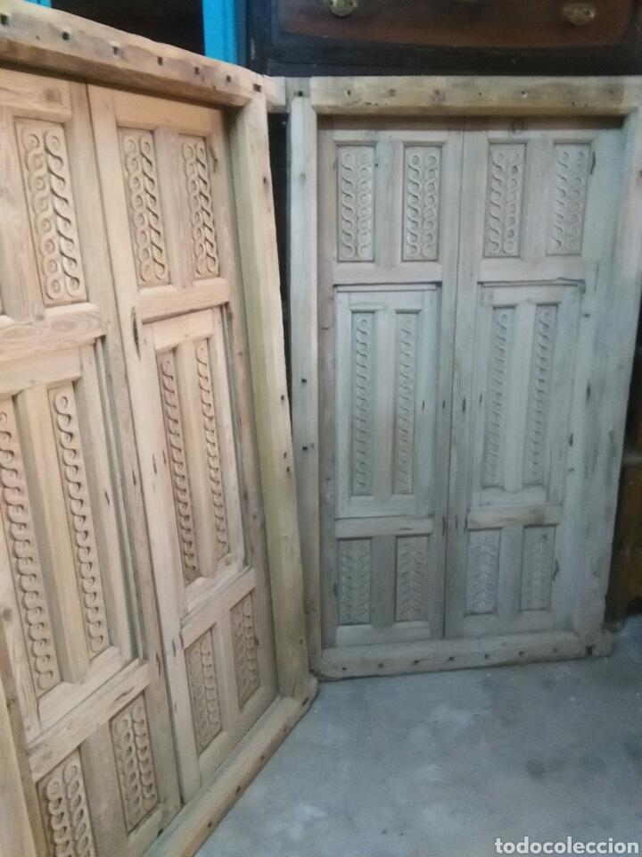 Antigüedades: 2 Parejas Ventanas de madera 2 juegos - Foto 10 - 57790813