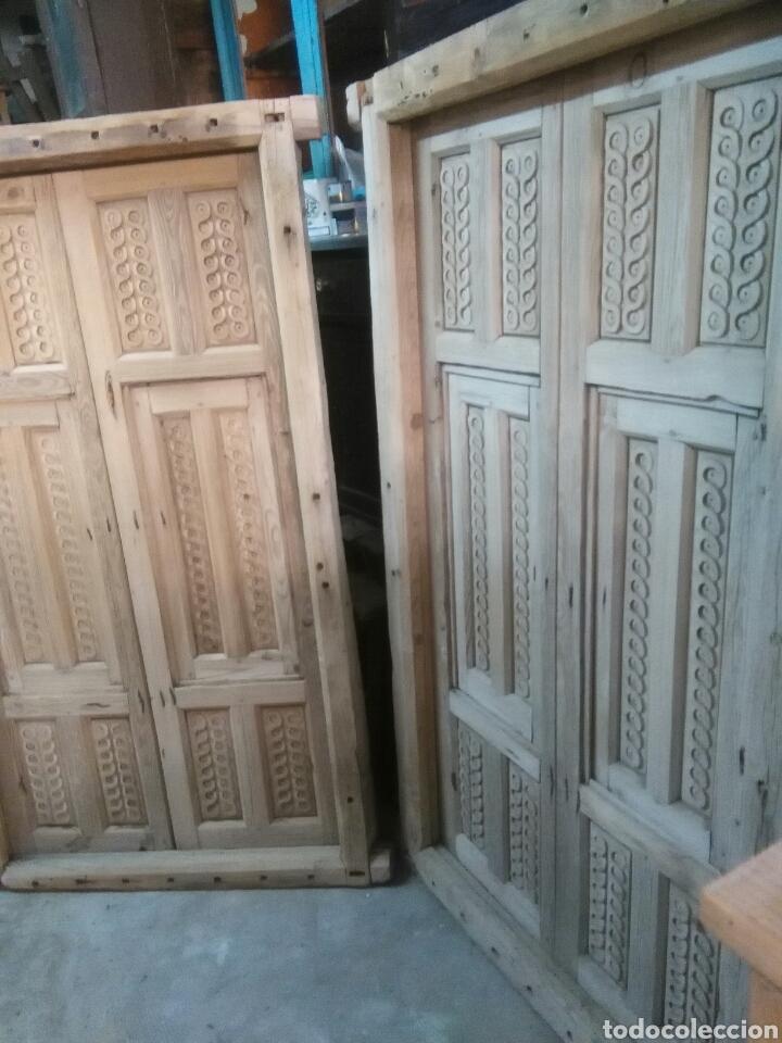 Antigüedades: 2 Parejas Ventanas de madera 2 juegos - Foto 11 - 57790813