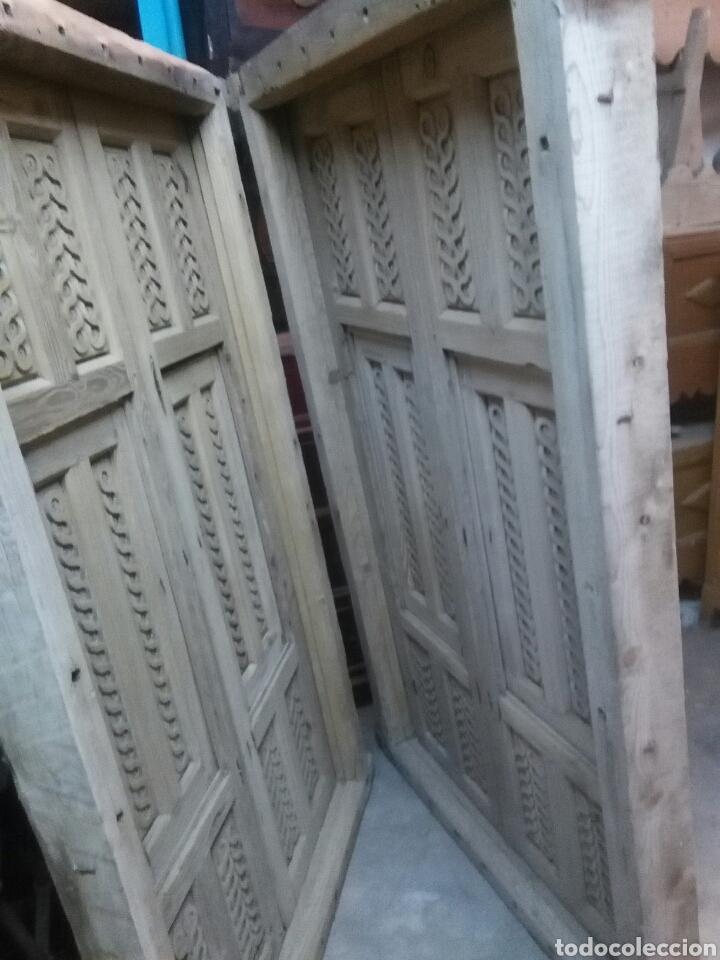 Antigüedades: 2 Parejas Ventanas de madera 2 juegos - Foto 17 - 57790813