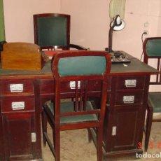 Antigüedades: MESA CLÁSICA DE DESPACHO. Lote 112326851