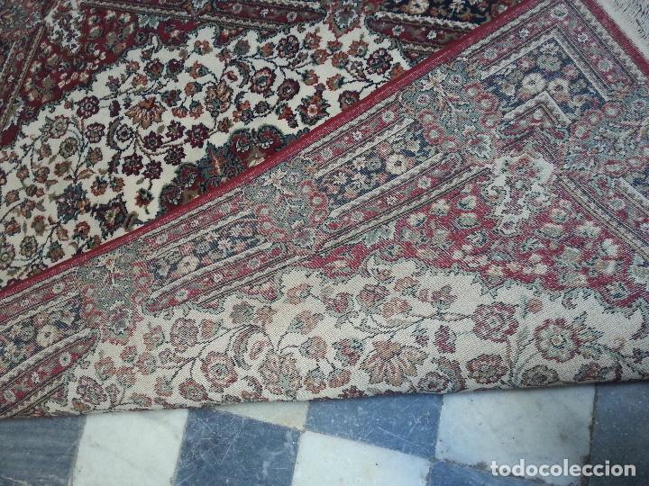 Antigüedades: gran alfombra imperial - 240x172 cm + flecos - lana tejida a mano para cultos de virgen semana santa - Foto 4 - 112331007