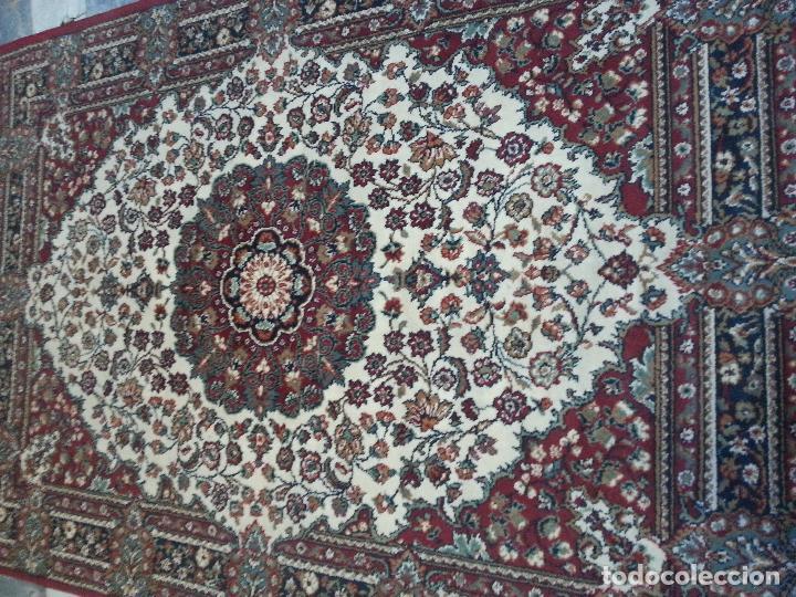 Antigüedades: gran alfombra imperial - 240x172 cm + flecos - lana tejida a mano para cultos de virgen semana santa - Foto 5 - 112331007