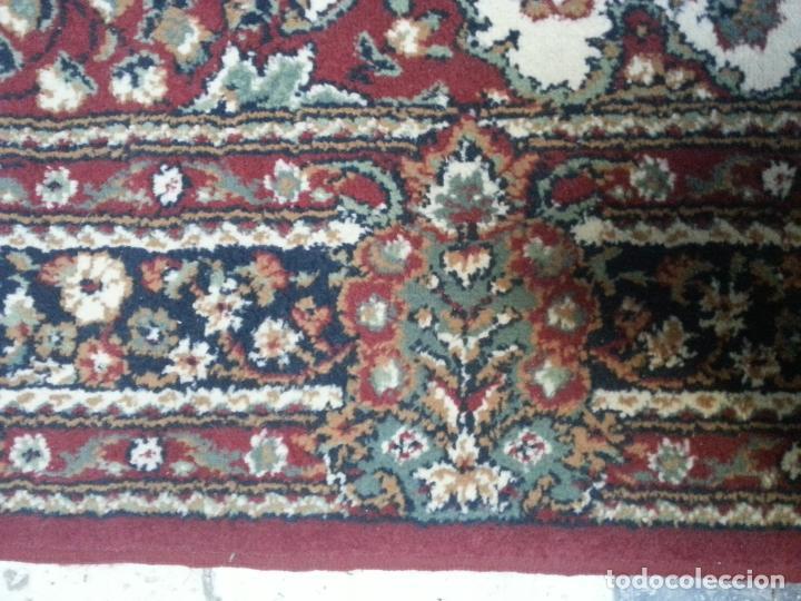 Antigüedades: gran alfombra imperial - 240x172 cm + flecos - lana tejida a mano para cultos de virgen semana santa - Foto 7 - 112331007