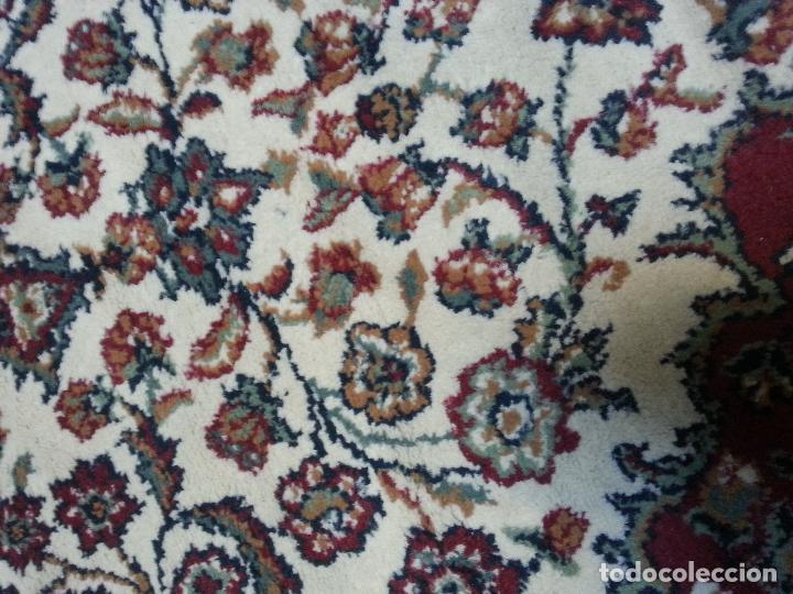 Antigüedades: gran alfombra imperial - 240x172 cm + flecos - lana tejida a mano para cultos de virgen semana santa - Foto 8 - 112331007