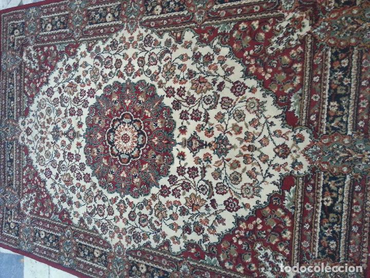 Antigüedades: gran alfombra imperial - 240x172 cm + flecos - lana tejida a mano para cultos de virgen semana santa - Foto 12 - 112331007