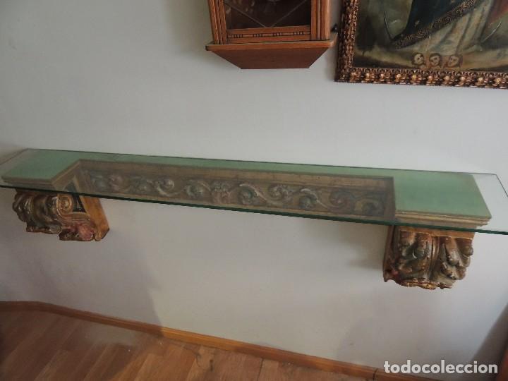 Antigüedades: MAGNIFICA CONSOLA CON MENSULAS SIGLO XVII - Foto 2 - 112331031