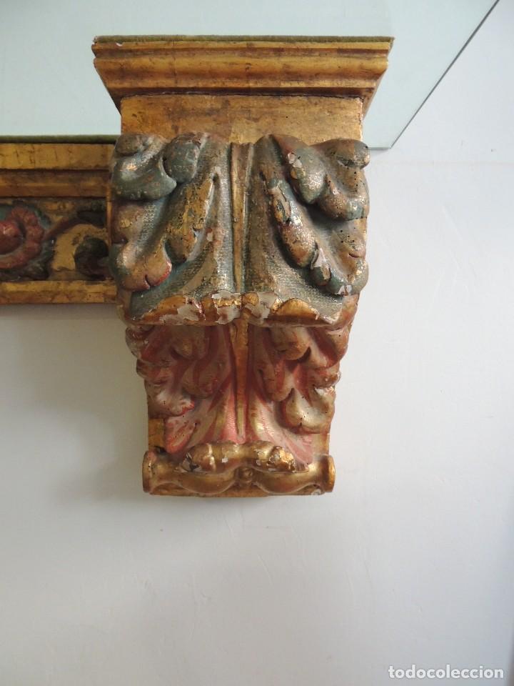 Antigüedades: MAGNIFICA CONSOLA CON MENSULAS SIGLO XVII - Foto 3 - 112331031