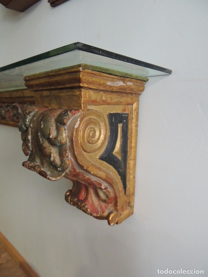 Antigüedades: MAGNIFICA CONSOLA CON MENSULAS SIGLO XVII - Foto 4 - 112331031