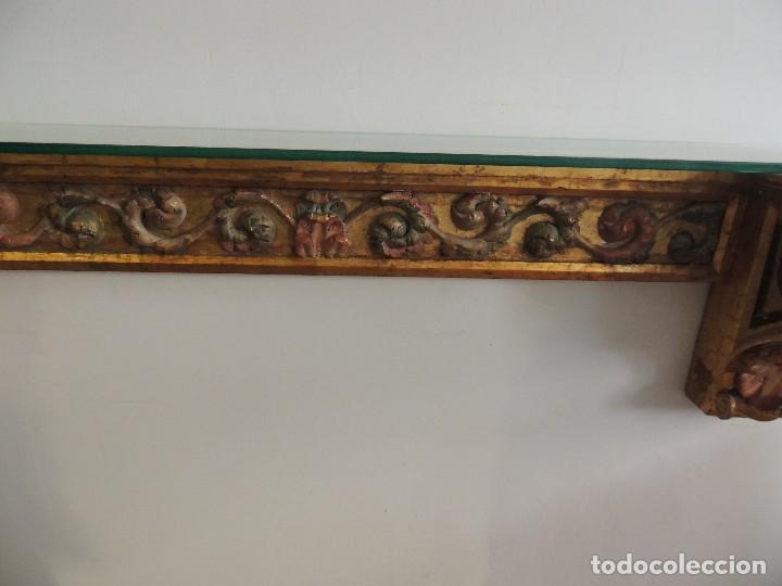 Antigüedades: MAGNIFICA CONSOLA CON MENSULAS SIGLO XVII - Foto 5 - 112331031