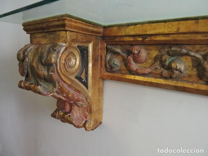 Antigüedades: MAGNIFICA CONSOLA CON MENSULAS SIGLO XVII - Foto 9 - 112331031