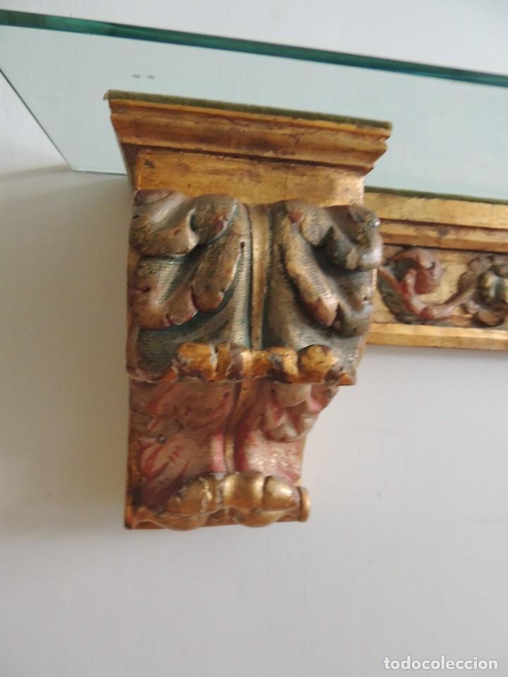 Antigüedades: MAGNIFICA CONSOLA CON MENSULAS SIGLO XVII - Foto 10 - 112331031