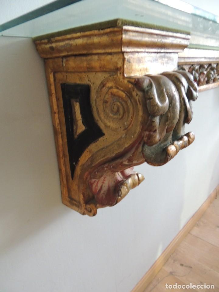 Antigüedades: MAGNIFICA CONSOLA CON MENSULAS SIGLO XVII - Foto 11 - 112331031