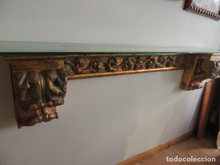 Antigüedades: MAGNIFICA CONSOLA CON MENSULAS SIGLO XVII - Foto 12 - 112331031