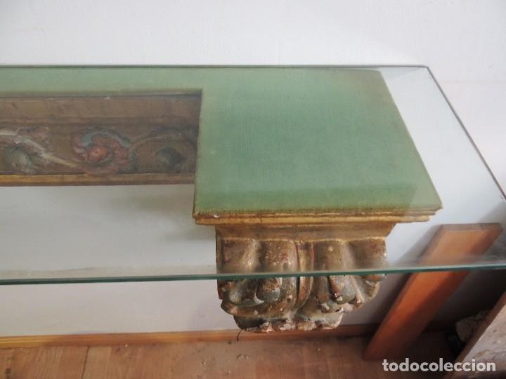 Antigüedades: MAGNIFICA CONSOLA CON MENSULAS SIGLO XVII - Foto 15 - 112331031