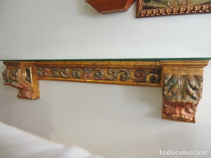 Antigüedades: MAGNIFICA CONSOLA CON MENSULAS SIGLO XVII - Foto 16 - 112331031