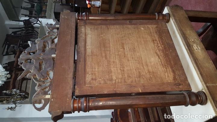 Antigüedades: CONJUNTO DE CONSOLA Y ESPEJO ESTILO FERNANDINA. CAOBA CON LIMONCILLO. ESPAÑA. SIGLO XIX. - Foto 9 - 112335067