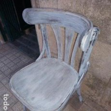 Antigüedades: ANTIGUA SILLA TONET RESTAURADA EN DECAPE BLANCO. . Lote 112352983