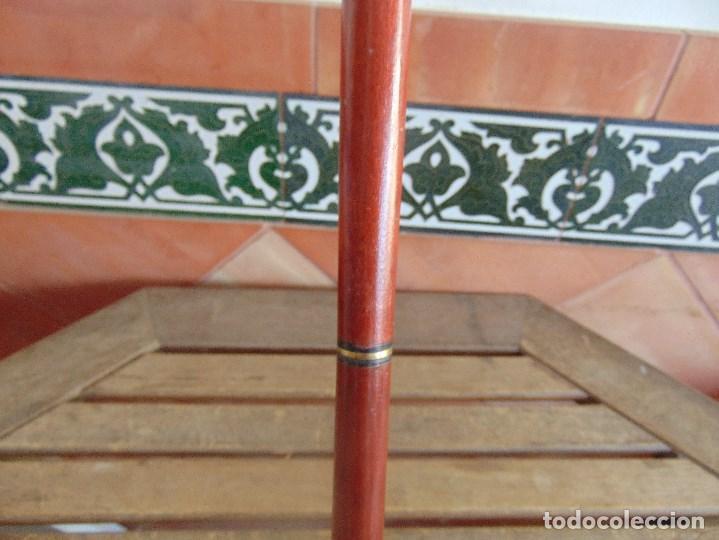 Antigüedades: BASTON MINERO DESMONTABLE EN TRES PARTES PUÑO DE LATON O BRONCE . - Foto 4 - 112374491