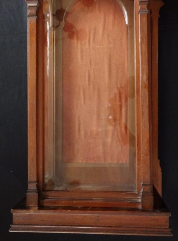 Antigüedades: Hornacina o capilla de estilo neogótico en madera. 93 cm. Hacia 1900. - Foto 6 - 117782198