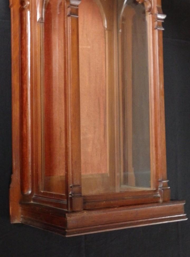 Antigüedades: Hornacina o capilla de estilo neogótico en madera. 93 cm. Hacia 1900. - Foto 10 - 117782198