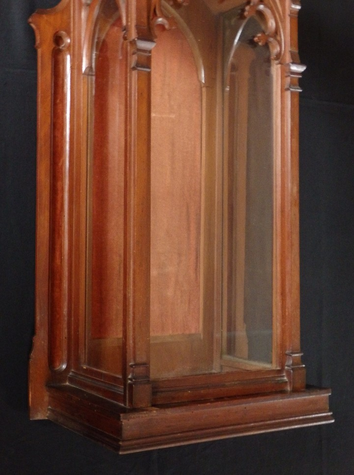 Antigüedades: Hornacina o capilla de estilo neogótico en madera. 93 cm. Hacia 1900. - Foto 11 - 117782198