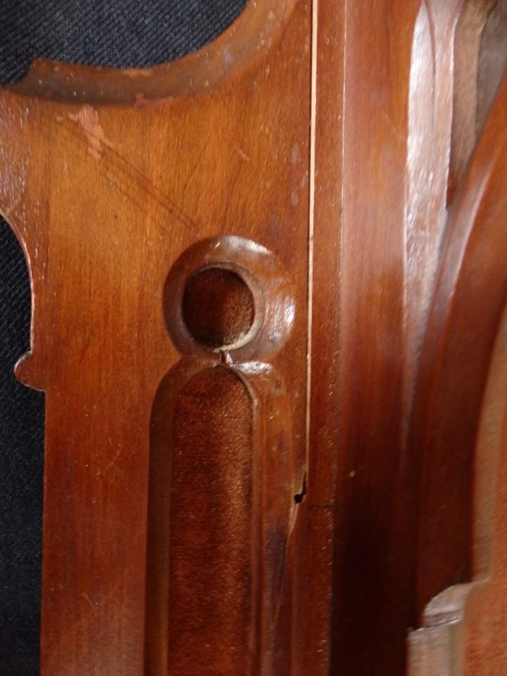 Antigüedades: Hornacina o capilla de estilo neogótico en madera. 93 cm. Hacia 1900. - Foto 19 - 117782198