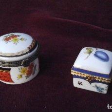 Antigüedades: PAREJA DE PASTILLEROS DE PORCELANA .PPIOS DEL SIGLOXXL. Lote 112378627
