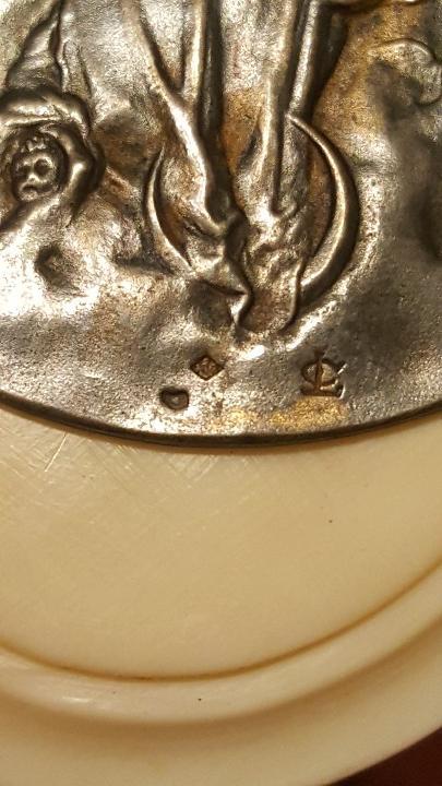 Antigüedades: COLGANTE DE MARFIL Y PLATA FRANCES VIRGEN MARIA - Foto 5 - 112382847