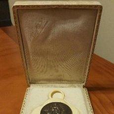 Antigüedades: COLGANTE DE MARFIL Y PLATA FRANCES VIRGEN MARIA. Lote 112382847